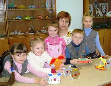 Марина Владимировна со своими воспитанниками