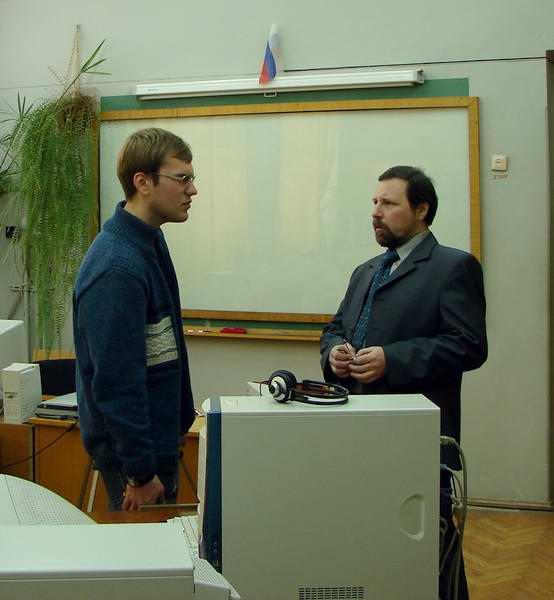 Владимир Викторович с бывшим кружковцем